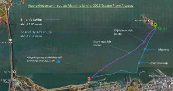 alcatraz swim route